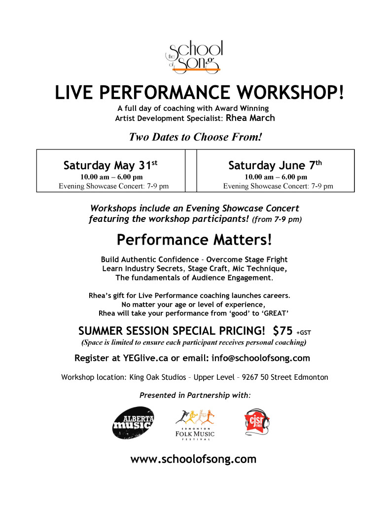 Performance Matters - Workshops
