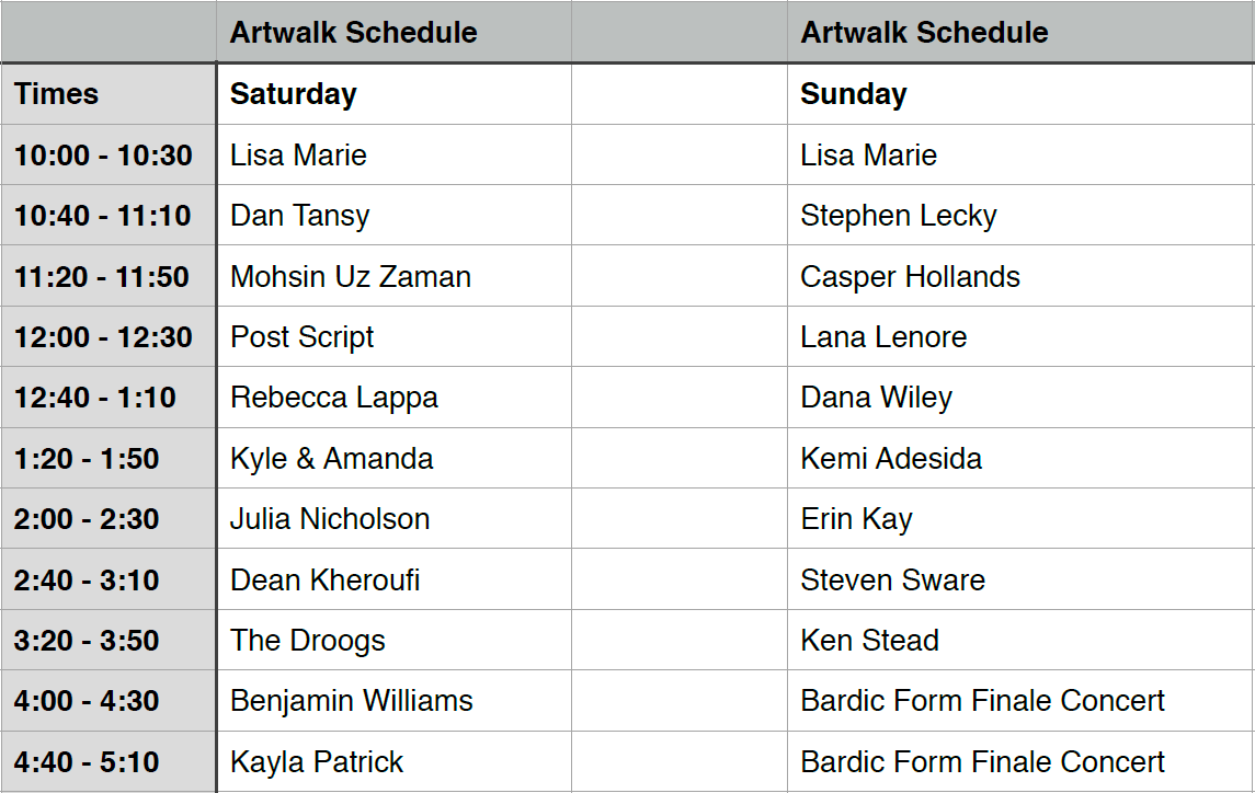 March Music - Artwalk 2014